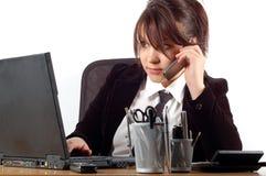 Mujer de negocios en el escritorio #7 Fotos de archivo