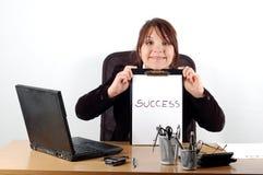 Mujer de negocios en el escritorio #8 Foto de archivo