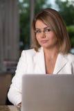 Mujer de negocios en el país Imagenes de archivo