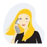 Mujer de negocios en el teléfono libre illustration