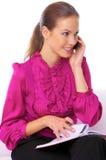Mujer de negocios en el teléfono Fotografía de archivo libre de regalías