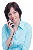 Mujer de negocios en el teléfono fotografía de archivo