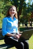 Mujer de negocios en el trabajo Imagenes de archivo