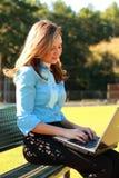 Mujer de negocios en el trabajo Imágenes de archivo libres de regalías