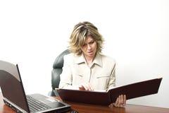 Mujer de negocios en el trabajo Foto de archivo libre de regalías