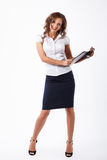 Mujer de negocios en estudio Foto de archivo libre de regalías