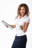 Mujer de negocios en estudio Imagen de archivo