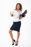 Mujer de negocios en estudio Imágenes de archivo libres de regalías