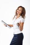 Mujer de negocios en estudio Fotos de archivo libres de regalías