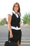 Mujer de negocios en la ciudad Fotografía de archivo