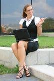 Mujer de negocios en la ciudad Imagen de archivo