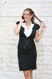 Mujer de negocios en la ciudad Foto de archivo