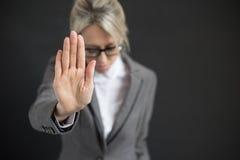 Mujer de negocios en la depresión Foto de archivo libre de regalías