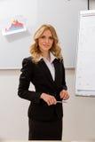 Mujer de negocios en la presentación Imagen de archivo