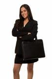 Mujer de negocios en negro Foto de archivo