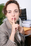 Mujer de negocios en oficina Fotografía de archivo
