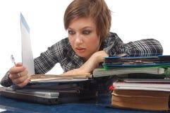 Mujer de negocios en pánico fotografía de archivo