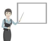 Mujer de negocios en un fondo blanco Imágenes de archivo libres de regalías