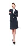 Mujer de negocios en un integral Fotografía de archivo libre de regalías