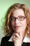 Mujer de negocios en verde fotos de archivo