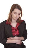 Mujer de negocios - enfermedad de la sensación Imágenes de archivo libres de regalías