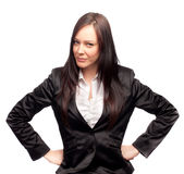 Mujer de negocios enojada Imagen de archivo libre de regalías