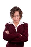 Mujer de negocios enojada Fotos de archivo