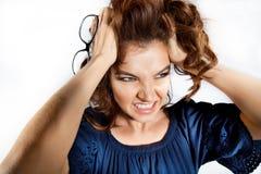 Mujer de negocios enojada Foto de archivo libre de regalías