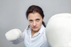 Mujer de negocios enojada Fotografía de archivo libre de regalías