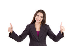 Mujer de negocios feliz Imagenes de archivo