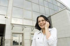Mujer de negocios feliz del retrato Foto de archivo