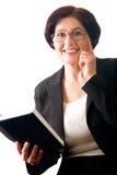 Mujer de negocios feliz madura fotografía de archivo