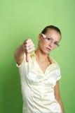 Mujer de negocios fracasada Fotografía de archivo libre de regalías
