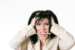 Mujer de negocios frustrada Fotografía de archivo libre de regalías