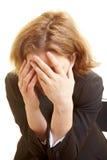 Mujer de negocios frustrada Imagen de archivo