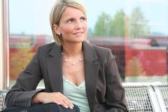 Mujer de negocios hermosa Foto de archivo libre de regalías