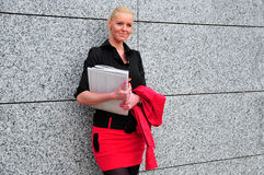 Mujer de negocios hermosa Imagen de archivo libre de regalías