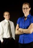 Mujer de negocios, hombre de negocios Imagen de archivo libre de regalías