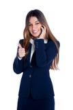 Mujer de negocios india asiática que habla el teléfono móvil Foto de archivo libre de regalías