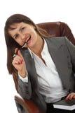 Mujer de negocios joven acertada Imagen de archivo libre de regalías