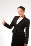 Mujer de negocios joven acertada Fotografía de archivo
