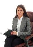 Mujer de negocios joven acertada Imagen de archivo