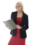 Mujer de negocios joven atractiva foto de archivo libre de regalías
