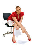 Mujer de negocios joven cansada Imagen de archivo libre de regalías