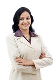 Mujer de negocios joven con los brazos cruzados Imagen de archivo libre de regalías