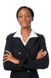 Mujer de negocios joven confidente Foto de archivo libre de regalías