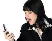 Mujer de negocios joven enojada Fotos de archivo