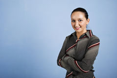 Mujer de negocios linda foto de archivo libre de regalías