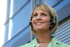 Mujer de negocios - llamada y teléfono Imágenes de archivo libres de regalías