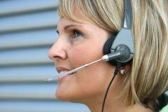 Mujer de negocios - llamada y teléfono Imagenes de archivo